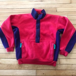 Vintage Patagonia Snap T Pullover Made in USA pink